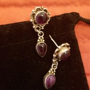 Earrings - sterling and aemythist